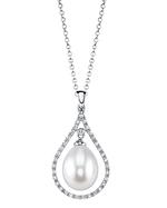 Freshwater Pearl & Diamond Danielle Pendant