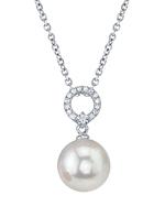 Freshwater Pearl & Diamond Joyce Pendant