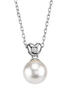 Freshwater Pearl & Diamond Lev Pendant