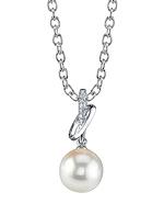 Freshwater Pearl & Diamond Loren Pendant