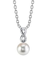 Freshwater Pearl & Diamond Rachel Pendant