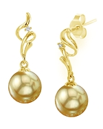 Golden South Sea Pearl & Diamond Aria Earrings