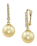 Golden Pearl Dangling Britney Earrings