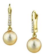 Golden Pearl Susan Earrings