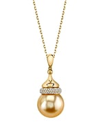 Golden South Sea Pearl & Diamond Dana Pendant