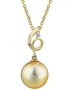 Golden Pearl & Diamond Symphony Pendant