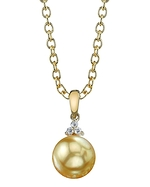Golden Pearl & Diamond Alyssa Pendant