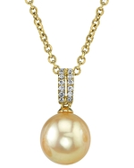 Golden Pearl & Diamond Belinda Pendant
