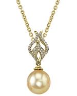 Golden Pearl & Diamond Marissa Pendant