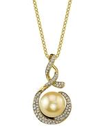 Golden Pearl & Diamond Pippa Pendant