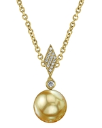 Golden Pearl & Diamond Samantha Pendant