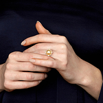 Golden South Sea Pearl Lea Ring - Model Image