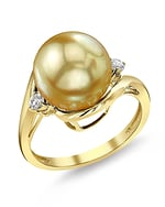 Golden South Sea Pearl & Diamond Sia Ring