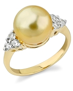 Golden Pearl & Diamond Sea Breeze Ring