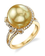 Golden Pearl & Diamond Kay Ring