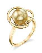 Golden South Sea Pearl Lexi Ring
