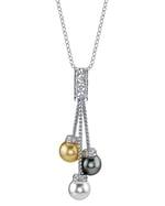 South Sea Multicolor Pearl & Diamond Claire Pendant