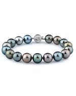9-10mm Tahitian South Sea Multicolor Pearl Bracelet