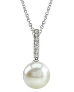 Freshwater Pearl Dangling Diamond Pendant