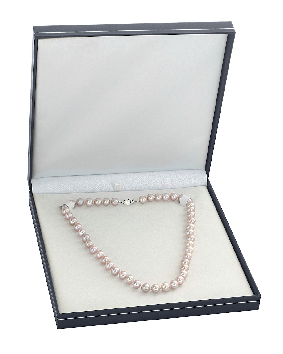 8-9mm Peach Freshwater Pearl Necklace - Third Image
