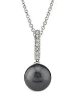 Tahitian South Sea Pearl Dangling Diamond Pendant