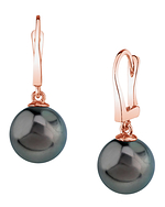 Tahitian South Sea Pearl Classic Elegance Earrings - Secondary Image