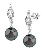 Tahitian South Sea Pearl & Diamond Suzanna Earrings