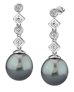 Tahitian South Sea Pearl & Diamond Julia Earrings
