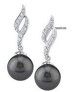 Tahitian South Sea Pearl & Diamond Suzanna Earrings