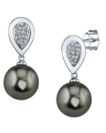 Tahitian South Sea Pearl & Diamond Alexandra Earrings