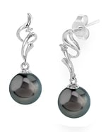 Tahitian South Sea Pearl & Diamond Aria Earrings