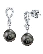 Tahitian South Sea Pearl & Diamond Celise Earrings