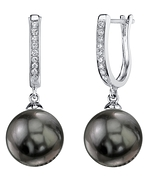 Tahitian South Sea Pearl & Diamond Kim Earrings