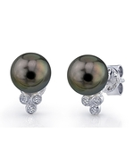 Tahitian South Sea Pearl & Diamond Kimberly Earrings