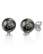 Tahitian South Sea Pearl & Diamond Sasha Earrings