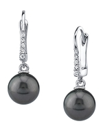 Tahitian South Sea Pearl & Diamond Susan Earrings