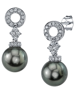 Tahitian South Sea Pearl & Diamond Vanessa Earrings