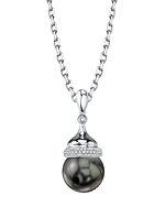 Tahitian South Sea Pearl & Diamond Dana Pendant