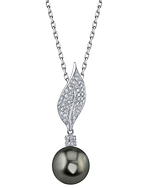 Tahitian South Sea Pearl & Diamond Eva Pendant