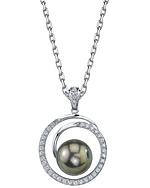 Tahitian South Sea Pearl & Diamond Kerri Pendant