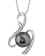 Tahitian South Sea Pearl & Diamond Mara Pendant