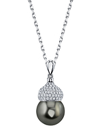 Tahitian South Sea Pearl & Diamond Riley Pendant