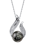 Tahitian South Sea Pearl & Diamond Tiara Pendant