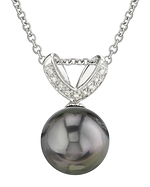Tahitian South Sea Pearl & Diamond Belissima Pendant
