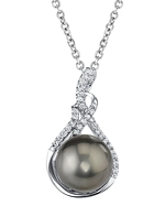 Tahitian South Sea Pearl & Diamond Luciana Pendant