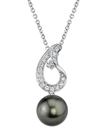 Tahitian South Sea Pearl & Diamond Jessica Pendant