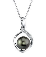 Tahitian South Sea Pearl & Diamond Alexis Pendant
