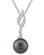 Tahitian South Sea Pearl & Diamond Suzanna Pendant