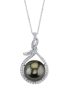14mm Tahitian South Sea Pearl & Diamond Agnes Pendant