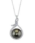 14mm Tahitian South Sea Pearl & Diamond Agnes Pendant